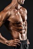 Όμορφος γυμνός αρσενικός κορμός, έξι πακέτο Στοκ φωτογραφίες με δικαίωμα ελεύθερης χρήσης