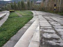 Όμορφος δρόμος στο λόφο με το μπαμπού στοκ φωτογραφία με δικαίωμα ελεύθερης χρήσης