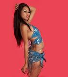 Όμορφος εξωτικός χορευτής κοιλιών Στοκ Εικόνα
