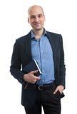 Όμορφος επιχειρηματίας με το βιβλίο Στοκ φωτογραφίες με δικαίωμα ελεύθερης χρήσης