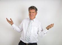 Όμορφος επιχειρηματίας στο άσπρο υπόβαθρο στοκ φωτογραφίες