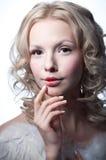 Όμορφος θηλυκός άγγελος Στοκ εικόνα με δικαίωμα ελεύθερης χρήσης