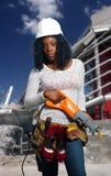 Όμορφος θηλυκός εργάτης οικοδομών (4a) Στοκ Εικόνες