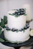 Όμορφος διακοσμήστε το γαμήλιο κέικ στο στούντιο Στοκ Εικόνα