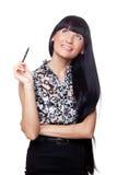 Όμορφος διευθυντής ofice με μια μάνδρα στοκ φωτογραφία με δικαίωμα ελεύθερης χρήσης