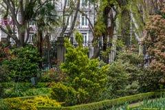 Όμορφος κήπος στη μέση μιας πόλης Στοκ φωτογραφία με δικαίωμα ελεύθερης χρήσης
