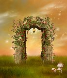όμορφος κήπος διανυσματική απεικόνιση