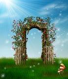 Όμορφος κήπος ελεύθερη απεικόνιση δικαιώματος