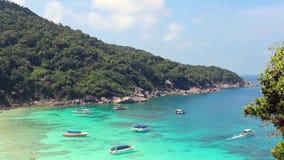 Όμορφος και άνετος κόλπος της θάλασσας Andaman Ταϊλάνδη απόθεμα βίντεο