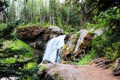Όμορφος καταρράκτης πάρκων Yellowstone εθνικός με τους βράχους και τα πανέμορφα χρώματα βρύου και δασωδών περιοχών στοκ φωτογραφία με δικαίωμα ελεύθερης χρήσης
