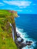 Όμορφος καταρράκτης Mealt στο νησί της Skye στη Σκωτία Στοκ Εικόνες