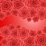 Όμορφος κόκκινος αυξήθηκε υπόβαθρο λουλουδιών Στοκ φωτογραφία με δικαίωμα ελεύθερης χρήσης