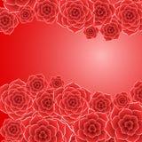 Όμορφος κόκκινος αυξήθηκε υπόβαθρο λουλουδιών Στοκ φωτογραφίες με δικαίωμα ελεύθερης χρήσης