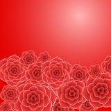 Όμορφος κόκκινος αυξήθηκε υπόβαθρο λουλουδιών Στοκ Εικόνα