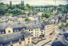 όμορφος λουξεμβούργιος κόσμος πόλεων γεφυρών Στοκ εικόνες με δικαίωμα ελεύθερης χρήσης