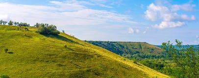 Όμορφος λόφος και πράσινη χλόη Στοκ Εικόνες