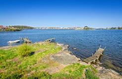 Όμορφος μήνας ακροθαλασσιών Karlskrona το Μάιο Στοκ Εικόνα