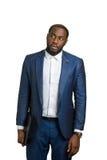Όμορφος μαύρος επιχειρηματίας με το φάκελλο Στοκ εικόνα με δικαίωμα ελεύθερης χρήσης