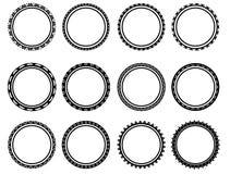 Όμορφος μαύρος κύκλος Στοκ φωτογραφίες με δικαίωμα ελεύθερης χρήσης