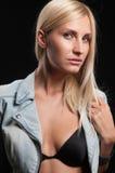 όμορφος μαύρος ξανθός ανα&si Στοκ Εικόνες