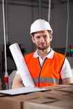 Όμορφος μηχανικός στο εργοστάσιο Στοκ Εικόνες
