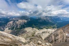Όμορφος, μια συναρπαστική άποψη - δολομίτες, Ιταλία Στοκ Εικόνες