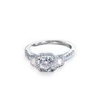 Όμορφος μοναχικός δαχτυλιδιών ζωνών γαμήλιου engagment διαμαντιών με το mul Στοκ φωτογραφία με δικαίωμα ελεύθερης χρήσης