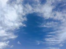 όμορφος μπλε ουρανός σύνν&e ουρανός σύννεφων Ουρανός με το μπλε σύννεφων καιρικής φύσης σύννεφων Στοκ Φωτογραφία