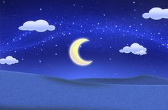 όμορφος μπλε πράσινος νυχτερινός ουρανός πεδίων στοκ εικόνες