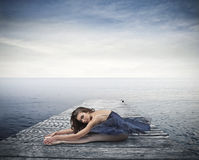 Όμορφος μπλε χορευτής στοκ εικόνα με δικαίωμα ελεύθερης χρήσης