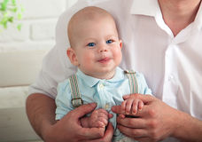 όμορφος μπλε eyed μωρών στοκ εικόνα