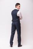 Όμορφος νέος επιχειρηματίας πίσω πλευράς Στοκ Φωτογραφία