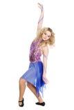 Όμορφος νέος ξανθός χορός κοριτσιών. Στοκ εικόνες με δικαίωμα ελεύθερης χρήσης
