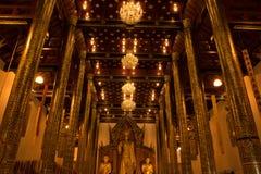 όμορφος ναός Ταϊλανδός γυαλιού δράκων Στοκ φωτογραφία με δικαίωμα ελεύθερης χρήσης