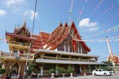 Όμορφος ναός της Μπανγκόκ Ταϊλάνδη Wat nawong Στοκ φωτογραφία με δικαίωμα ελεύθερης χρήσης