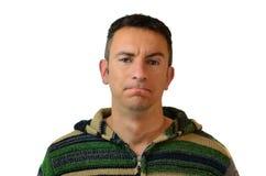 Όμορφος νεαρός άνδρας μπερδεμένος, αμφίβολος ή αβέβαιος στοκ εικόνα με δικαίωμα ελεύθερης χρήσης