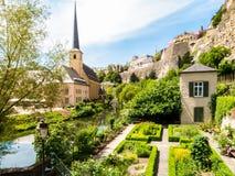 όμορφος λουξεμβούργιος κόσμος πόλεων γεφυρών Στοκ φωτογραφία με δικαίωμα ελεύθερης χρήσης