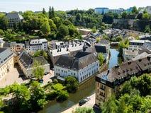 όμορφος λουξεμβούργιος κόσμος πόλεων γεφυρών Στοκ Εικόνα