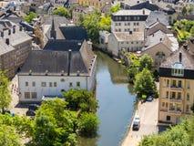 όμορφος λουξεμβούργιος κόσμος πόλεων γεφυρών Στοκ Φωτογραφίες