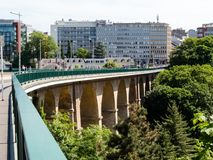 όμορφος λουξεμβούργιος κόσμος πόλεων γεφυρών Στοκ Εικόνες