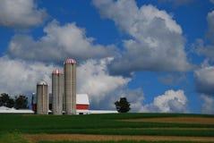 όμορφος ουρανός αγροτι&kapp Στοκ Εικόνα