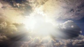 Όμορφος ουρανός Ακτίνες Θεών Στοκ Φωτογραφία