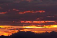 όμορφος ουρανός βραδιού Στοκ Εικόνα
