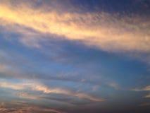 όμορφος ουρανός ηλιοβασιλέματος φύσης Στοκ Εικόνα