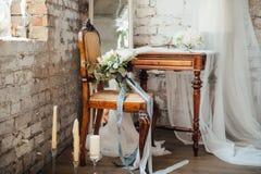 Όμορφος πίνακας για το πρωί της νύφης Στοκ φωτογραφία με δικαίωμα ελεύθερης χρήσης