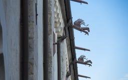 Όμορφος παλαιός εξωτερικός στενός επάνω εκκλησιών Στοκ φωτογραφία με δικαίωμα ελεύθερης χρήσης