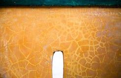 Όμορφος παλαιός κίτρινος συμπαγής τοίχος Στοκ Εικόνες