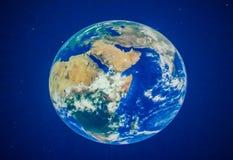 Όμορφος πλανήτης Γη στο πλανητάριο ελεύθερη απεικόνιση δικαιώματος