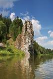 όμορφος ποταμός φύσης chusovaya ural Στοκ Εικόνα