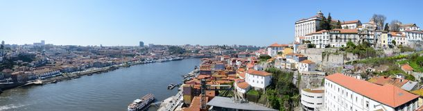 Όμορφος ποταμός Douro στην πόλη του Πόρτο στην Πορτογαλία στοκ εικόνα